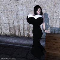 Aliecia gown (in world photo with minimal editing) by Aliecia-Lionheart