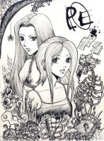 Aya and Eve by Autumn-Sacura