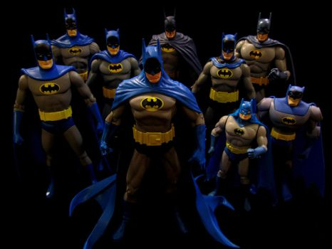 Blue Bats with Yellow Ovals by Police-Box-Traveler