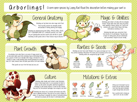 (SC) Arborlings Species Reference by loppyrae