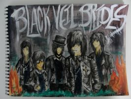Black Veil Brides painting by SlicedBerry-Pro