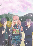 Smiles Under the Cherry Blossoms by Shana1124