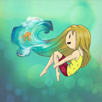 Her Pet Goldfish by rayvin734