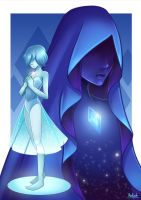 Steven Universe: Blue Diamond and Blue Pearl by Kisetsukaze
