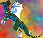 Wise Dragons of Llih (done in dragon builder) by Jakeukalane