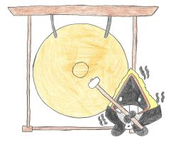 Shaking Snorunt and a gong