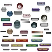 21 Web Buttons by diondeville