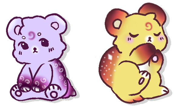Night and Day Bear Adopts (Closed) by GalaxyMcNugget