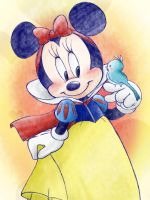 minnie as Snow White by chico-110