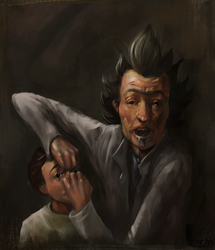 Rick and Morty : Rembrandt Style by MarTs-Art