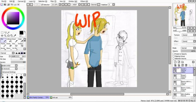 WIP Elric Family by CopperLetters