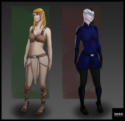 More Character Concepts - Different Worlds by Saza-Productions