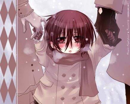 Chibi Kaname in the snow by Sagakure
