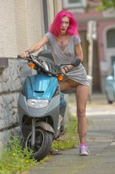 a girl and her bike: revealed! by MarcBergmann