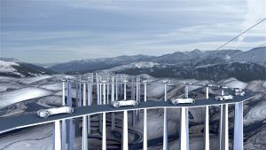Overpass in the snow by marijeberting