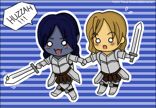Chibi Knights of the Thorn by Renai-Akihime