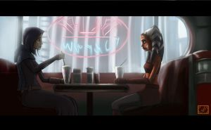 Ahsoka n Barriss dining at Dex by Montano-Fausto