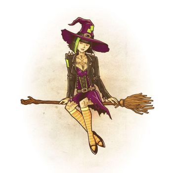 Drawlloween 2015 - Day 27 - Witch by scumbugg