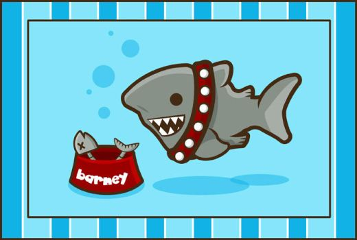 Barney the Greenland Shark by SquidPig