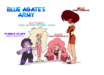 Blue Agate's Army by PencilTree