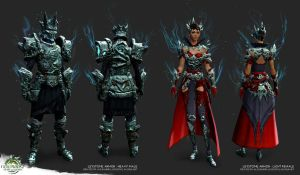 Guild Wars 2: Heart of Thorns - Leystone Armor by Alemja
