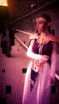 Midna and Zelda at Animuc 2015 by Glasmond