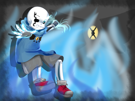Darktale Sans [Speedpaint] by Pudp0n