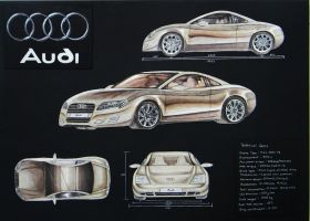 Audi Coupe Concept Design by toyonda