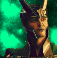Loki Laufeyson (Painting Portrait) by AStolenRelic