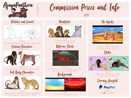 Commission Price List 2018 by AjayaPanthera