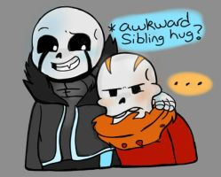 Awkward Sibling Hug? (LITTLEGZTALE) by BackStabber128