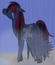 Pegasis in the Rain by HeartLessWolfGirl