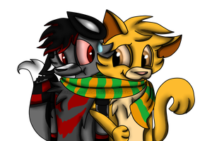 Commission- Furball and Chester by TheLooneyCharboa