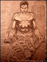 Man of Steel (DC): Cover Pencil by andybrase