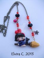 Kiki's delivery service necklace by elvira-creations