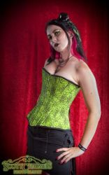 HIGH VIS SPIDER WEB CORSET .S by FreakatchooClothing