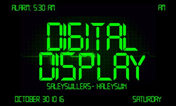 +Digital Display Font by SaleySwillers