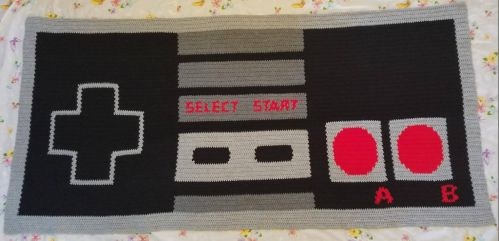 Nintendo blanket 6ft. by 3ft. by amhitchcock
