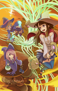 Little Witch Academia Poster by Liansa
