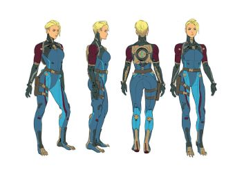 Zero Suit: Character Rotation by hubbleTea