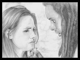 New Moon - Bella and Laurent by JLafleurArt