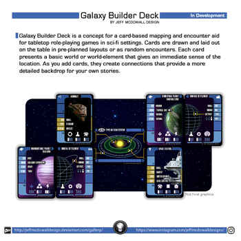 World/Galaxy Builder Deck cards project, Part 1 by jeffmcdowalldesign