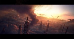 Diablo 3 end cinematic opening shot by leventep