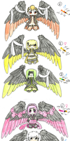 Winged adoptables batch [CLOSED] by popolis