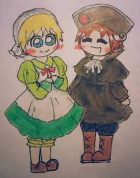 Chibitalia  HRE clothes swap by FabulousChibitalia