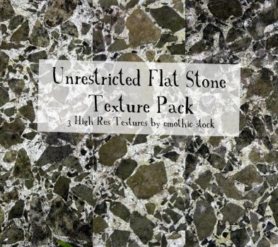 Unrestricted Flat Stone Texture Pack by emothic-stock