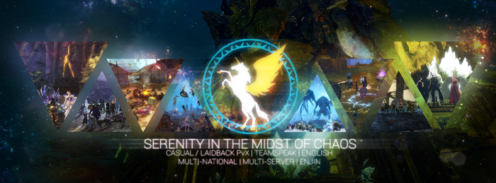 SIMC - Serenity in the midst of chaos Guild Banner by Clarencezer