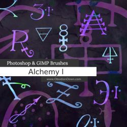 Alchemy Photoshop and GIMP Brushes by redheadstock