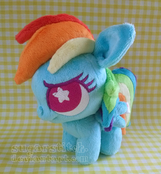 MLP FiM: Rainbow Dash Ponydoll by sugarstitch