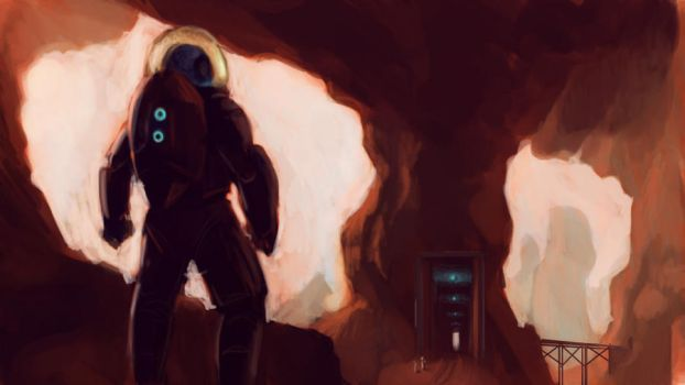 Scifi Speedpaint Red Planet Mining by RougeSpark